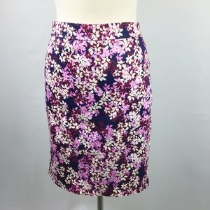 J Crew The Pencil Skirt Floral Size 4